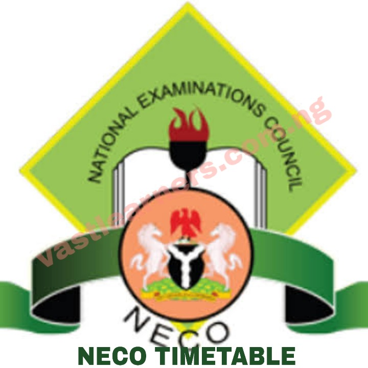 Latest NECO Timetable 2019 2020 For June July SSCE Examination