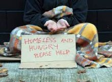 hungry beggar on the street